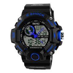 Tropez S-Shock Analog Digital Sports Watch - Blue