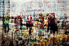 "Vibrations Urbaines by Laurent Dequick, where each image is a collective sequence of multiple photographs, superimposed together to visually reflect the chaos & congestion of large urban areas. The series features portraits of NY & Berlin. Dequick says his work is ""primarily a reflection on the contemporary city & more specifically the proliferation of modern urban space."""