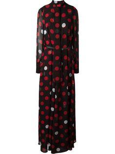 McQ Alexander McQueen polka dot maxi dress