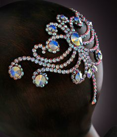 Verona Rhinestone Hairpiece CX127 Crystal AB | Dancesport Fashion @ DanceShopper.com