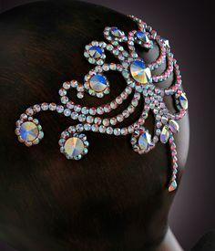 Verona Rhinestone Hairpiece CX127 Crystal AB   Dancesport Fashion @ DanceShopper.com