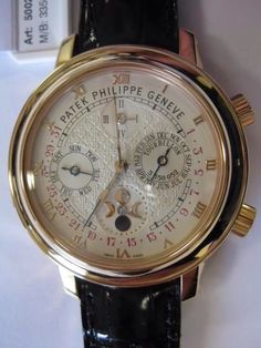 """ONLY SERIOUS INQUIRIES PLS. Here is to close the week for Patek lovers. For those who said I can get it I don't think so! There is only 1 and we have it. What is this baby. This is a Unique piece with a special case, in 18k pink gold most know as the """"Sky Moon Tourbillon"""" is extremely fine important and unique. Minute repeating, astronomic, double dial chronometer, Tourbillon, perpetual calendar, nocturnal sky chart of the Northern Hemisphere, moon phases and lunar orbit."""