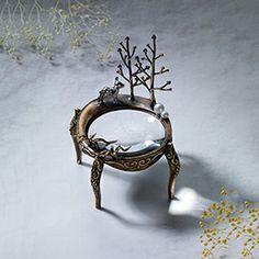 사슴, magnifying glass, jewelry