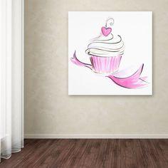 Cupcake 8 by Jennifer Lilya Painting Print on Wrapped Canvas