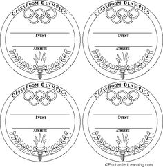 Thinking Olympics - award medals coloring page templates ...
