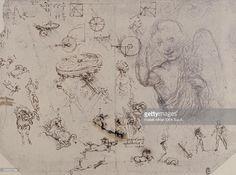 Drawing of an Angel and Human Figures, by Leonardo da Vinci