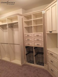 Dressing Table Room, Closet Space, Walk In Closet, Crown Moldings, House  Building, Closet Organization, Custom Closets, Big Closets, Custom Cabinetry