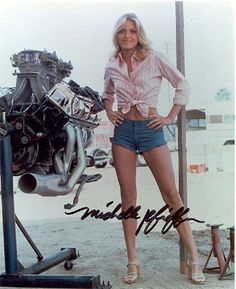 Michelle Pfeiffer Revving Your Engines Michelle Pfeiffer, Sexy Cars, Hot Cars, Car Girls, Pin Up Girls, Hollywood Knights, Sexy Autos, Modelos Pin Up, Drag Cars