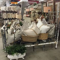 Scott Antique Market- Sept 2015  Chippy paint twin bed & chippy paint set of (4) chairs, handmade pillows