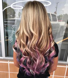 "Blonde, pastel pink, purple and blue peekaboo highlights 13 Likes, 1 Comments - Tiffany Allen (@tiffanydoeshairr) on Instagram: ""Unicorn hair today!"""