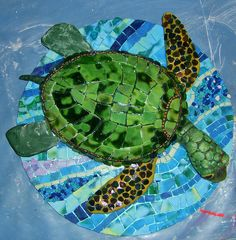 Hawkbill Turtle by Susan Turlington Mosaics, via Flickr