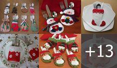 HACER PORTA CUBIERTOS DE TELA Porta Cupcake, Christmas Urns, Advent Calendar, Holiday Decor, Crochet, Victoria, Home Decor, Quilling Designs, Bag