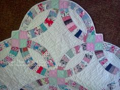 Gorgeous 1930s Double Wedding Ring Quilt Pinterest Rings And