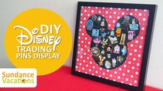 This is such a fun craft to do with children to display your Disney trading pins collection. Perfect Disney craft to show off your pins instead of keeping them on lanyards after your trip #DisneyCrafts #DisneyPins #DisneyPinDisplay #PinTrading