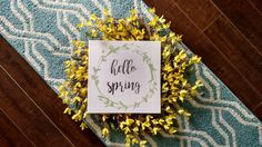 Spring Wood Sign | Hello Spring | Wood Sign | Signs | Wall Hangings | Wall Art | Home Decor | Spring Decor | Spring Home Decor | Spring Sign by DanielleGraceDesign1 on Etsy