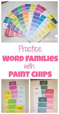 A colorful hands-on way to practice word families!