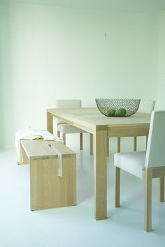Møbel for Tonning tegnet av AS Scenario interiørarkitekter MNIL www.no Dining Bench, Furniture Design, Table, Home Decor, Decoration Home, Table Bench, Room Decor, Interior Design, Home Interiors