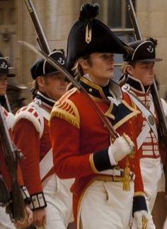 Rupert Friend (Mr. George Wickham) in military parade - Pride & Prejudice (2005) directed by Joe Wright #janeausten