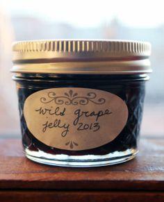 Wild Grape Jelly recipe