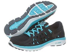 Nike Dual Fusion Run 2 Msl Mens 599563-009 Black Blue Running Shoes Size 10
