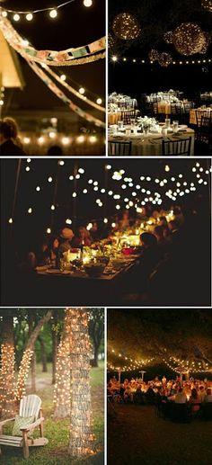 Coisas da Lívia: Iluminação no casamento (luzes de natal)...