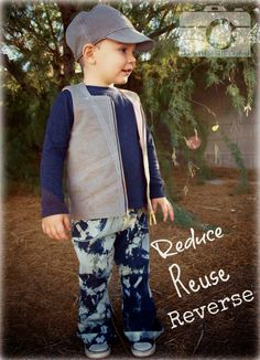 An upcycled look for boys!