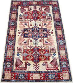 Beige Kazak Carpet/Rug No. 5174  http://www.alrug.com/5474
