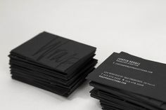 Inspiration: 25 super cool and elegant black business cards
