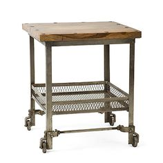 Factory Cart Side Table at HudsonGoods.com