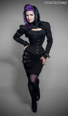 Buckle knee skirt goth by RebelMadness on Etsy