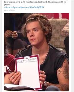Four is number on in 57 countries and it wasnt released yet....The whole fandom : we are the bestest,*