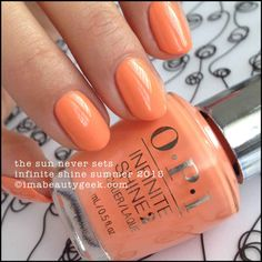 OPI The Sun Never Sets – Infinite Shine Summer 2015