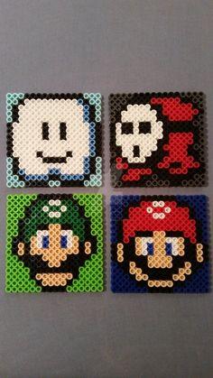 Mario Perler Bead Coasters III by AshMoonDesigns