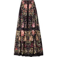 d8f15665d8726 Roberto Cavalli Printed Silk Maxi Skirt (143
