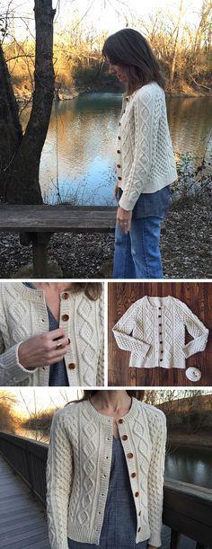 Knitalong FO No. 4: Karen Templer ~ Same pattern (Amanda) ~ using two different yarns ~ Karen Templer used wool-cotton blend, O-Wool Balance