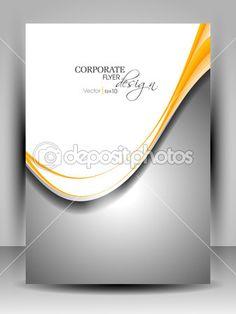 modèle de flyer professionnel ou brochure corporate design de couleur ...