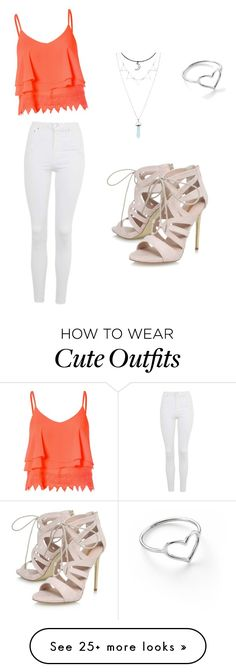 """Cute Outfit"" by perfectprincess147 on Polyvore featuring Glamorous, Topshop, Jordan Askill and Carvela"
