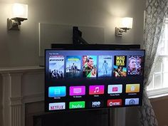 The Best Pull Down TV Wall Mount For Your Fireplace or other High ...