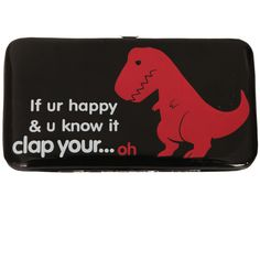 If Ur Happy & You Know It Dinosaur Hinge Wallet | Hot Topic ($13) ❤ liked on Polyvore featuring bags, wallets, accessories, phone cases and phones