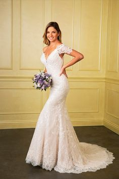 Are you looking for a wedding dress with elegance but a touch of sexy? Well we have the right one for you. Click on the photo to very more styles like this and more info on where to say yes to the dress. #weddingideas #weddinggowns #weddingtheme #weddingplans #brideideas Fitted Lace Wedding Dress, Dream Wedding Dresses, Wedding Gowns, Girls Dresses, Summer Dresses, Formal Dresses, Bridesmaids, Bridesmaid Dresses, Yes To The Dress