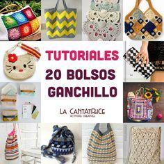 Bolsos de ganchillo : 20 modelos con tutoriales