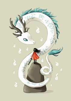 "Saatchi Online Artist: Indrė Bankauskaitė; Painting, Digital ""Dragon Spirit"""