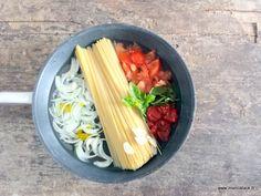 """Le """"One Pan Pasta"""" : le plat de pâtes où tout cuit dans une poêle en même temps ! - Recette - Marcia 'Tack"""