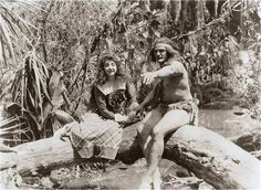 """Morgan City, Louisiana - Enid Markey and Elmo Lincoln in the 1918 movie, """"Tarzan of the Apes"""" that was partly filmed in the Lake Palourde area Morgan City Louisiana, Tarzan Of The Apes, Cool Photos, Interesting Photos, Broadway Theatre, Elmo, Vintage Pictures, Historical Photos, Lincoln"""