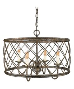 Buy the Quoizel Century Silver Leaf Direct. Shop for the Quoizel Century Silver Leaf Dury 4 Light Wide Drum Chandelier with Metal Cage Shade and save. Candle Chandelier, Ceiling Chandelier, Ceiling Pendant, Ceiling Lights, Chandelier Ideas, Chandelier Shades, Kitchen Chandelier, Sloped Ceiling, Farmhouse Light Fixtures