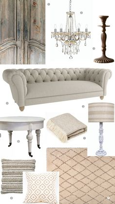 Create a French Style Sitting Room in Elegant Neutral Tones