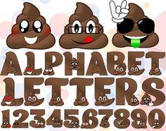 20 PNG JPG Emoji Poop Clipart Printable Poo Smiley by SmileShake