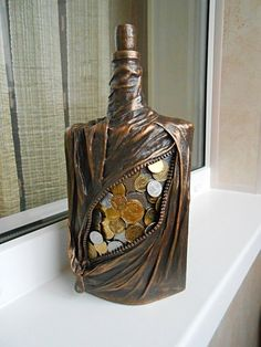 1 million+ Stunning Free Images to Use Anywhere Glass Bottle Crafts, Diy Bottle, Bottle Art, Glass Bottles, Cardboard Box Crafts, Newspaper Crafts, Diy Crafts Slime, Diy And Crafts, Bottle Centerpieces