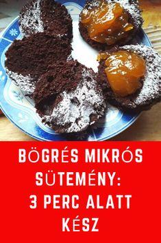 3 perc alatt kész! # sütemény #édesség Muffin, Breakfast, Food, Morning Coffee, Essen, Muffins, Meals, Cupcakes, Yemek