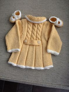 Ravelry: Vintage Sunday Coat pattern by Sue Batley-Kyle King Cole Baby Book 5 Baby Knitting Patterns, Coat Patterns, Knitting For Kids, Baby Patterns, Knit Baby Sweaters, Knitted Baby Clothes, Knitting Sweaters, Crochet Baby Jacket, Crochet Cardigan